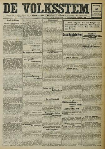De Volksstem 1926-07-31