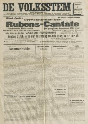 De Volksstem 1938-07-03