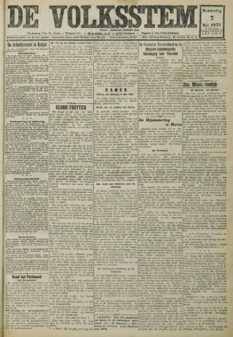 De Volksstem 1931-05-07