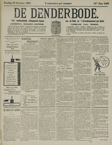 De Denderbode 1911-10-15