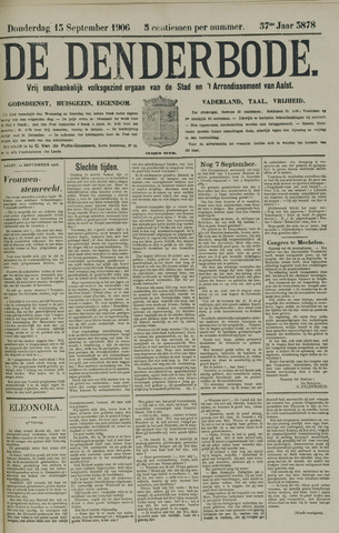 De Denderbode 1906-09-13