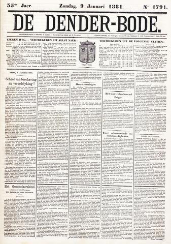 De Denderbode 1881-01-09