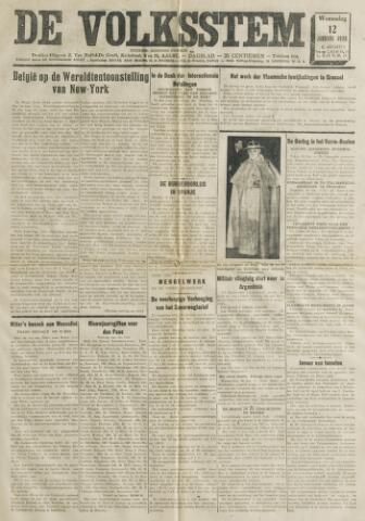 De Volksstem 1938-01-12