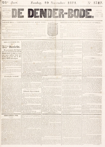 De Denderbode 1871-11-19
