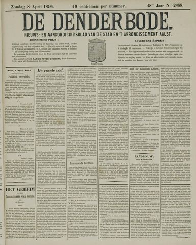 De Denderbode 1894-04-08