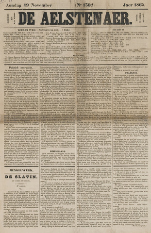 De Aalstenaar 1865