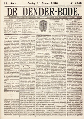 De Denderbode 1885-10-18