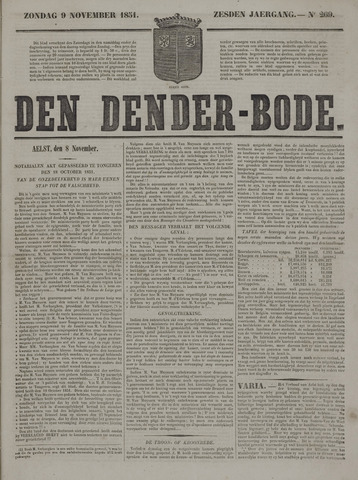 De Denderbode 1851-11-09
