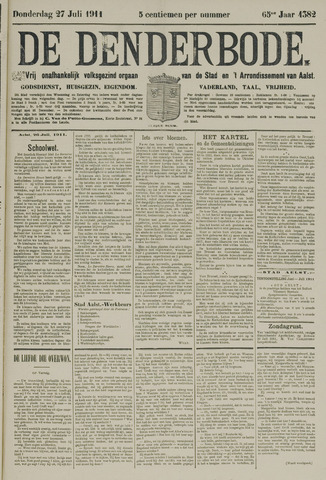 De Denderbode 1911-07-27