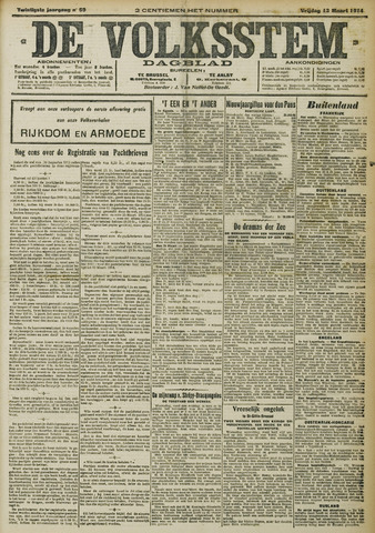 De Volksstem 1914-03-13