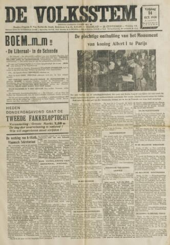 De Volksstem 1938-10-14