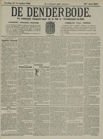 De Denderbode 1906-11-18