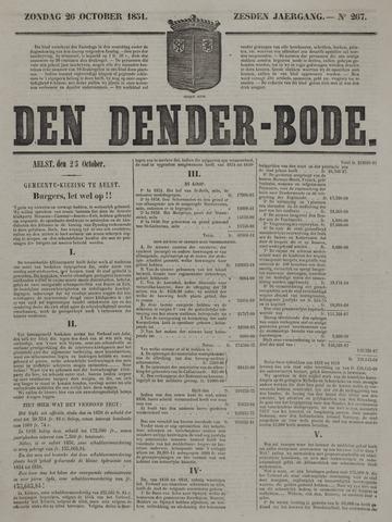 De Denderbode 1851-10-26