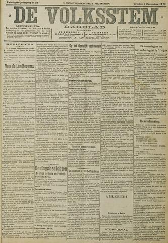 De Volksstem 1914-12-04