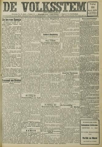 De Volksstem 1931-04-24