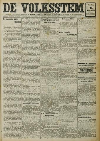 De Volksstem 1926-04-13