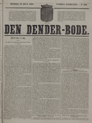 De Denderbode 1851-07-13