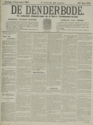 De Denderbode 1907-09-01