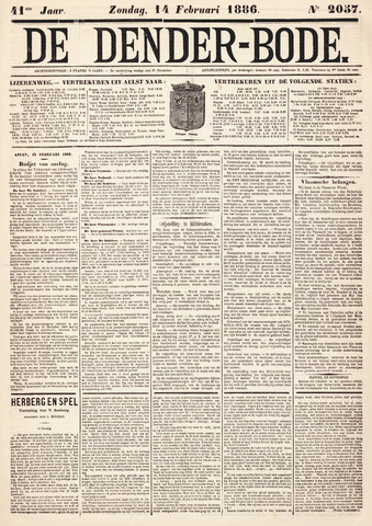 De Denderbode 1886-02-14
