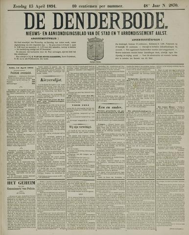De Denderbode 1894-04-15