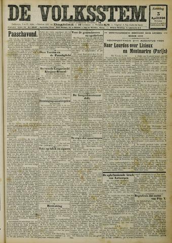 De Volksstem 1926-04-03