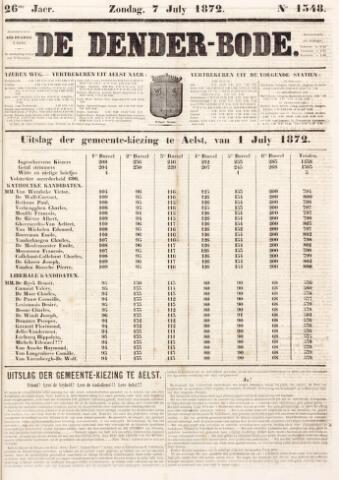 De Denderbode 1872-07-07