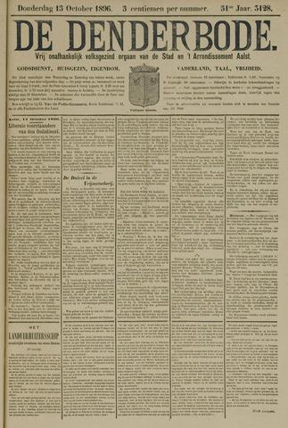 De Denderbode 1896-10-15
