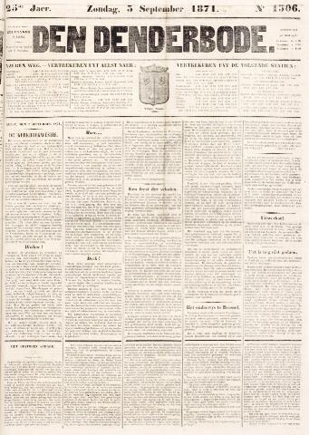 De Denderbode 1871-09-03