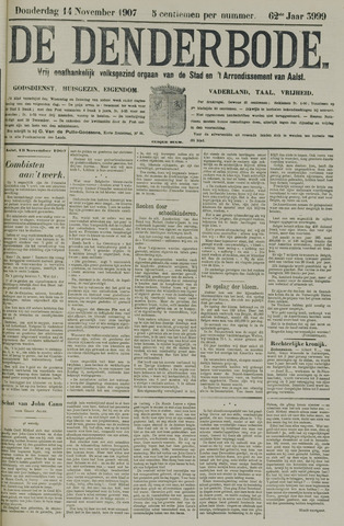 De Denderbode 1907-11-14