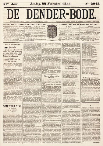 De Denderbode 1885-11-22