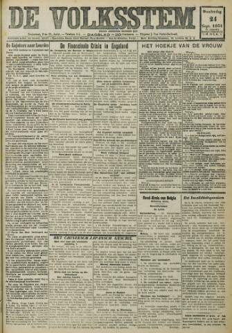 De Volksstem 1931-09-24