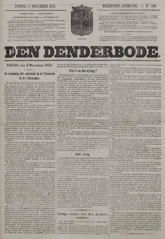 De Denderbode 1854-12-03
