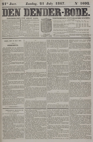 De Denderbode 1867-07-21