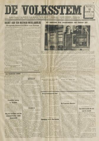 De Volksstem 1938-02-12