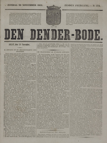 De Denderbode 1851-11-30