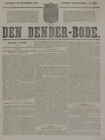 De Denderbode 1851-10-19
