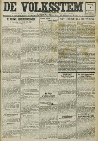 De Volksstem 1931-08-08
