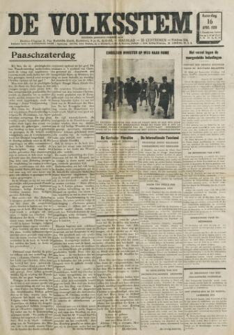 De Volksstem 1938-04-16