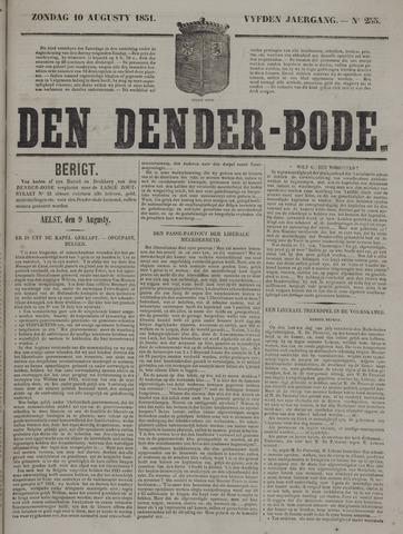 De Denderbode 1851-08-10