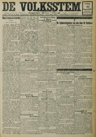 De Volksstem 1926-08-13