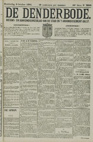 De Denderbode 1891-10-08
