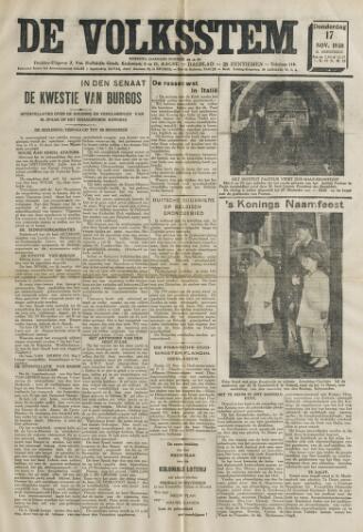 De Volksstem 1938-11-17