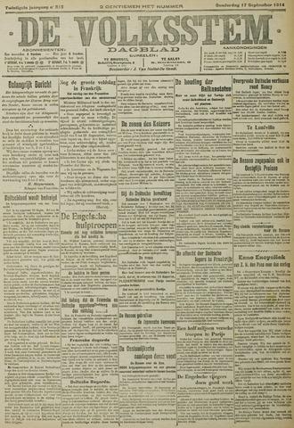 De Volksstem 1914-09-17