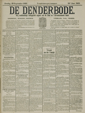 De Denderbode 1895-09-29
