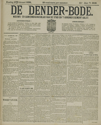 De Denderbode 1890-02-23