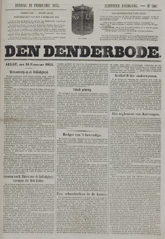 De Denderbode 1854-02-19