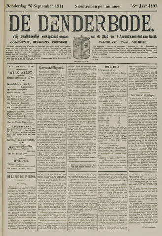 De Denderbode 1911-09-28