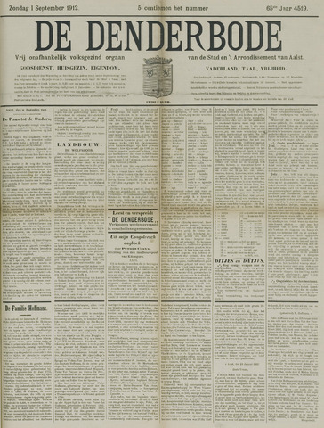 De Denderbode 1912-09-01
