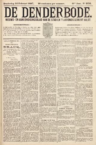 De Denderbode 1887-02-24