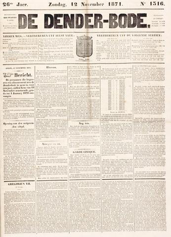 De Denderbode 1871-11-12
